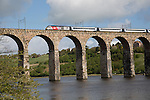 Train railway viaduct crossing River Tweed, Berwick-upon-Tweed, Northumberland, England, UK