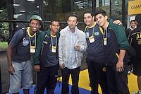 SAO PAULO, SP, 12 DE JULHO 2012 –  O ex jogador do Corinthians Neto na abertura do Brazil Sports Show na Bienal do Ibirapuera. O evento, que ja esta em sua segunda edicao, conta com mais de onze feiras tematicas em mais de vinte mil metros quadrados de espaco. E a maior feira da categoria no pais e atrai gente de todo o Brasil para prestigiar os workshops, e aproveitar. Somente hoje, a entrada e gratuita, ate o dia 15, paga-se 20,00 para o acesso. (FOTO: THAIS RIBEIRO / BRAZIL PHOTO PRESS).