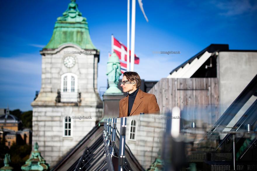 Oslo, Norgem, 14.09.2012. Claus Beck-Nielsen (født 1963) er en dansk dramatiker, skuespiller, musiker og forfatter. Foto: Christopher Olssøn.