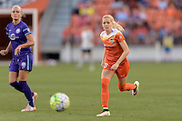 Denise O'Sullivan (13) of the Houston Dash bringing the ball up the field against the Orlando Pride on Friday, May 20, 2016 at BBVA Compass Stadium in Houston Texas. The Orlando Pride defeated the Houston Dash 1-0.