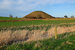 Silbury Hill neolithic site Wiltshire, England -largest manmade prehistoric structure in Europe