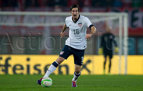 19.11.2013. Vienna, Austria.  USA's Sacha Kljestan plays the ball during the international soccer friendly match between Austria and USA at Ernst-Happel Stadium in Vienna, Austria, 19 November 2013.