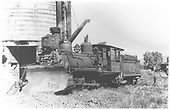 RGS 4-6-0 #20 with plow at Ridgway water tank.<br /> RGS  Ridgway, CO  7/1/1941