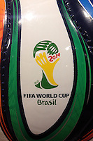 The Brazuca football with FIFA World Cup Brasil sign