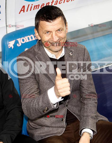 Real Valladolid's coach Miroslav Djukic during La Liga match.November 18,2012. (ALTERPHOTOS/Acero) NortePhoto