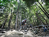 7th September 2017, Smithfield Forest, Cairns, Australia; UCI Mountain Bike World Championships; Greg Williamson (GBR) from CUBE GLOBAL SQUAD PROTECTED BY BLISS during downhill practice