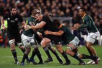 Wyatt Crockett in action during the Rugby Championship match between the New Zealand All Blacks and South Africa Springboks at QBE Stadium in Albany, Auckland, New Zealand on Saturday, 16 September 2017. Photo: Shane Wenzlick / lintottphoto.co.nz
