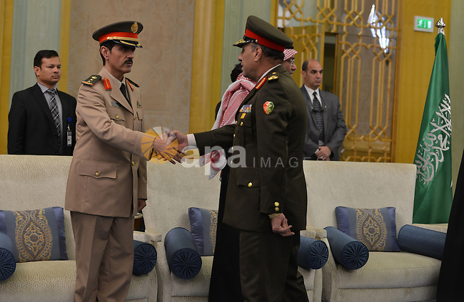 Delegation from the Egyptian Defense Ministers attend a funeral of Saudi Arabia's King Abdullah at Saudi Arabia Embassy, in Cairo, on January 24, 2015. Saudi Arabia's elderly King Abdullah died on Friday and was replaced by his half-brother Salman as the absolute ruler of the world's top oil exporter and the spiritual home of Islam. Photo by Amr Sayed