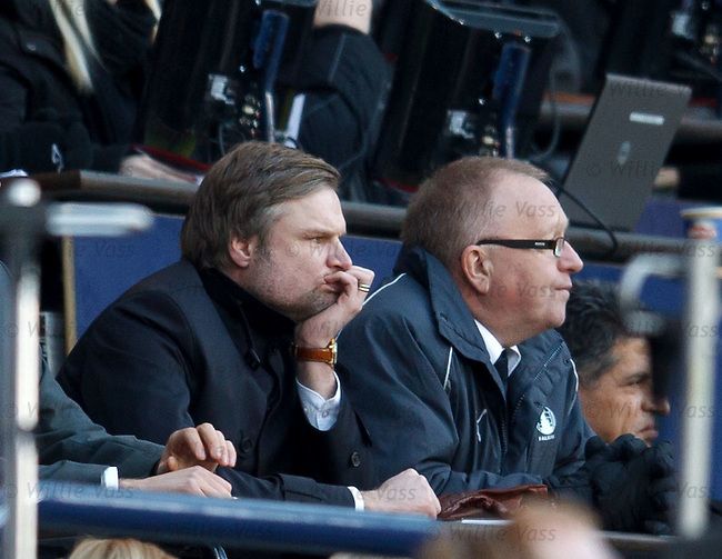 Steven Pressley watching from the stand in the second half
