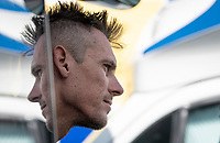 a 'relective' Philippe Gilbert (BEL/Deceuninck-Quickstep) before the race start<br /> <br /> Belgian National Road Championships 2019 - Gent<br /> <br /> ©kramon