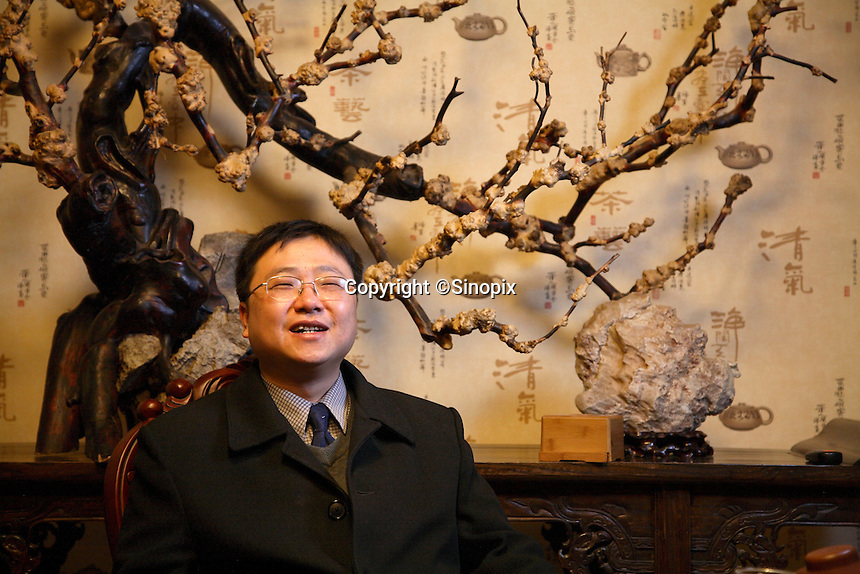 Zhu Yiwen, a small stock investor rallying man, is pictured here in Beijing, China on 24 February, 2008.