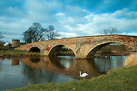 The Nungate Bridge and the River Tyne, Haddington, East Lothian