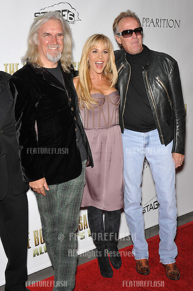"Billy Connolly (left), Julie Benz & Peter Fonda at the Los Angeles premiere of their new movie ""The Boondock Saints II: All Saints Day"" at the Arclight Theatre, Hollywood..October 28, 2009  Los Angeles, CA.Picture: Paul Smith / Featureflash"