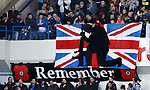 Rangers fans pay tribute to the armed forces on Remembrance weekend