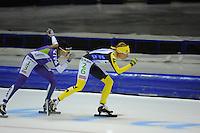 SCHAATSEN: HEERENVEEN: 25-10-2014, IJsstadion Thialf, Marathonschaatsen, KPN Marathon Cup 2, Carla Ketellapper-Zielman (#13), Carien Kleibeuker (#26), ©foto Martin de Jong