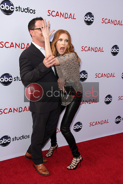 """Joshua Malina, Darby Stanchfield<br /> at the """"Scandal"""" ATAS Event and Season Finale Red Carpet, Academy of Television Arts and Sciences, North Hollywood, CA 05-16-13<br /> David Edwards/DailyCeleb.com 818-249-4998"""
