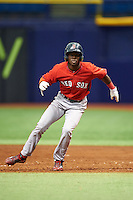 Boston Red Sox Nick Hamilton (41) during an instructional league game against the Tampa Bay Rays on September 24, 2015 at Tropicana Field in St Petersburg, Florida.  (Mike Janes/Four Seam Images)