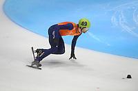 SHORTTRACK: DORDRECHT: Sportboulevard Dordrecht, 24-01-2015, ISU EK Shorttrack, Daan BREEUWSMA (NED | #49), ©foto Martin de Jong