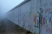 'Will the wall disappear in the fog of history?' - Berlin Wall west zone.18 November 1989