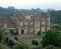 The imposing exterior of Abbotsford, the Scottish home of the novelist Sir Walter Scott