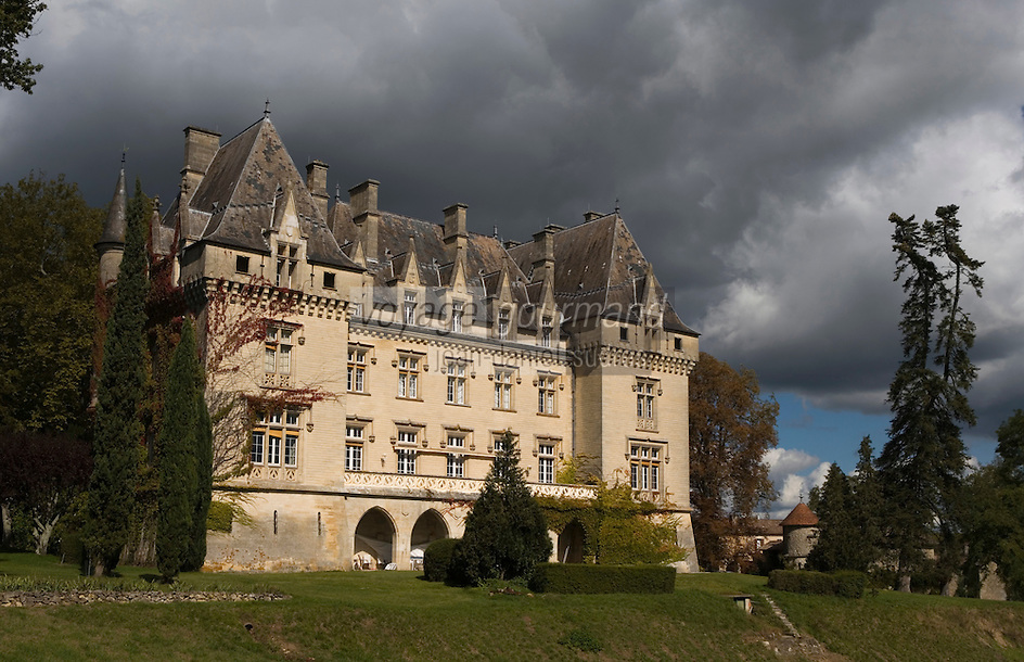 Europe/France/Aquitaine/33/Gironde/Gardegan:Château  de Pitray Côtes de Castillon AOC- Château  de style gothico-renaissance