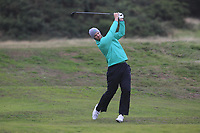 Peter O'Keeffe from Ireland on the 10th fairway during Round 3 Foursomes of the Men's Home Internationals 2018 at Conwy Golf Club, Conwy, Wales on Friday 14th September 2018.<br /> Picture: Thos Caffrey / Golffile<br /> <br /> All photo usage must carry mandatory copyright credit (&copy; Golffile | Thos Caffrey)