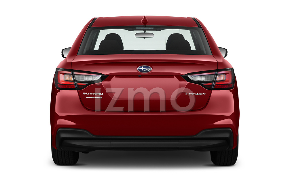 Straight rear view of 2020 Subaru Legacy Premium 4 Door Sedan Rear View  stock images