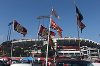 SAN FRANCISCO, CA - NOVEMBER 10:  Exterior general view of the outside of Candlestick Park before the game between the Carolina Panthers and San Francisco 49ers at Candlestick Park on November 10, 2013 in San Francisco, California. (Photo by Brad Mangin)