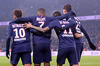 JOIE - 10 NEYMAR JR (PSG) - 07 KYLIAN MBAPPE (PSG) - 11 ANGEL DI MARIA (PSG) - DOS<br /> 04/12/2019<br /> Paris Saint Germain PSG - Nantes <br /> Calcio Ligue 1 2019/2020 <br /> Foto Philippe LECOEUR Panoramic/insidefoto <br /> ITALY ONLY