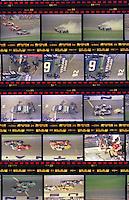 Film proof sheet contact sheet negatives Pepsi 400 at Daytona International Speedway in Daytona beach, FL on July 1, 1989. (Photo by Brian Cleary/www.bcpix.com)