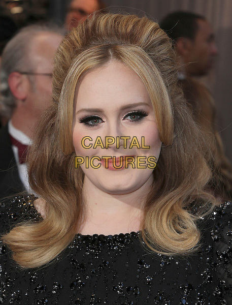 Adele (Adele Laurie Blue Adkins).85th Annual Academy Awards held at the Dolby Theatre at Hollywood & Highland Center, Hollywood, California, USA..February 24th, 2013.oscars headshot portrait black beads beaded .CAP/ADM/SLP/COL.©Colin/StarlitePics/AdMedia/Capital Pictures