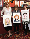 """Uma Thurman, Blair Brown and Phillipa Soo from the cast of """"The Parisian Woman"""" honored with a Sardi's Wall of Fame Portrait on February 28, 2018 at Sardi's in New York City."""