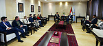 Palestinian Prime Minister Mohammad Ishtayeh, meets with a delegation from Oxfam International, in the West Bank city of Ramallah, on December 12 2019. Photo by Prime Minister Office