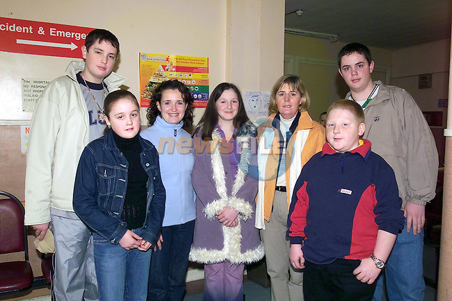 Robert Egan, Yvonne McArdle, Mejella McCabe, Connie Kavanagh, Ann Reilly, Andrew Bradley and mat Kerr part of the Bubble Gum club tour to Italy on there way from the lourdes Hospital...Picture Fran Caffrey Newsfile.