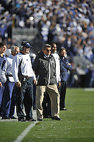 06 November 2010:  Penn State defensive coordinator Tom Bradley and head coach Joe Paterno.  The Penn State Nittany Lions defeated the Northwestern Wildcats 35-21 to give coach his 400th career win at Beaver Stadium in State College, PA.