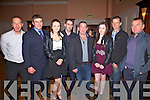 Members of the Sneem Rowing club at the Rowing Social in The Ring of Kerry Hotel on Saturday pictured l-r; Paul Coffey, Michael O'Neill, Stacey Rigter, Adrian Fitzgerald, Mike O'Shea, Shauna O'Shea, Kieran Murphy & Sean O'Sullivan.