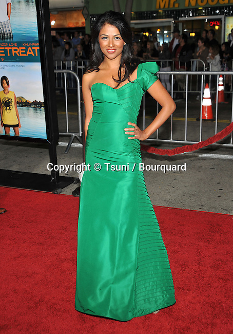 karen David  -<br /> Couples Retreat Premiere at the Westwood Village Theatre In Los Angeles.