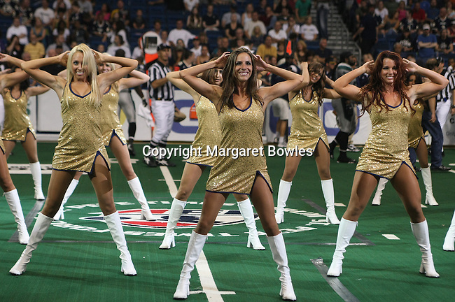 25 June 2010:  Tampa Bay Storm cheerleaders entertain the crowd. The Tampa Bay Storm defeated the Bossier-Shreveport Battle Wings 78-39 at the St. Pete Forum in Tampa, Florida
