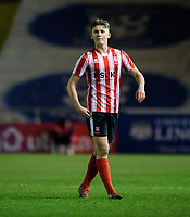 Lincoln City U18's Josh Burns<br /> <br /> Photographer Chris Vaughan/CameraSport<br /> <br /> The FA Youth Cup Second Round - Lincoln City U18 v South Shields U18 - Tuesday 13th November 2018 - Sincil Bank - Lincoln<br />  <br /> World Copyright © 2018 CameraSport. All rights reserved. 43 Linden Ave. Countesthorpe. Leicester. England. LE8 5PG - Tel: +44 (0) 116 277 4147 - admin@camerasport.com - www.camerasport.com