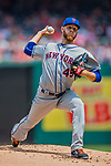 29 April 2017: New York Mets pitcher Zack Wheeler on the mound in the first inning against the Washington Nationals at Nationals Park in Washington, DC. The Mets defeated the Nationals 5-3 to take the second game of their 3-game weekend series. Mandatory Credit: Ed Wolfstein Photo *** RAW (NEF) Image File Available ***