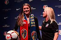 Philadelphia, PA - Thursday January 18, 2018: Morgan Reid, Miriam Hickey during the 2018 NWSL College Draft at the Pennsylvania Convention Center.