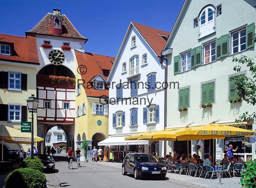 DEU, Deutschland, Baden-Wuerttemberg, Bodensee, Meersburg: das Unterstadttor | DEU, Germany, Baden-Wuerttemberg, Lake Constance, Meersburg: down-town gate
