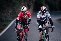 Gianluca Brambilla (ITA/Trek-Segafredo) & Gregor Mühlberger (AUT/Bora-Hansgrohe)<br /> <br /> Trofeo Lloseta - Andratx: 140km<br /> 27th Challenge Ciclista Mallorca 2018