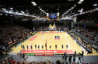 20.10.2016 Action during the Silver Ferns v Australia netball test match played at ILT Stadium in Invercargill. Mandatory Photo Credit ©Michael Bradley.