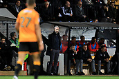 3rd October 2017, The Abbey Stadium, Cambridge, England; Football League Trophy Group stage, Cambridge United versus Southampton U21; Cambridge United Manager Shaun Derry watches the play from the sideline