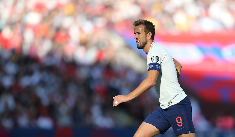 England's Harry Kane<br /> <br /> Photographer Rob Newell/CameraSport<br /> <br /> UEFA European Championship Qualifying Group A - England v Bulgaria - Saturday 7th September 2019 - Wembley Stadium - London<br /> <br /> World Copyright © 2019 CameraSport. All rights reserved. 43 Linden Ave. Countesthorpe. Leicester. England. LE8 5PG - Tel: +44 (0) 116 277 4147 - admin@camerasport.com - www.camerasport.com