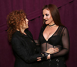"Bernadette Peters and Jennifer Simard backstage after ""Stigma"" on September 9, 2018 at the Green Room 42 in New York City."