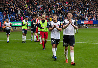 Bolton Wanderers' Dennis Politic and Joe White applaud the crowd at the end of the match<br /> <br /> Photographer Andrew Kearns/CameraSport<br /> <br /> The EFL Sky Bet Championship - Bolton Wanderers v Coventry City - Saturday 10th August 2019 - University of Bolton Stadium - Bolton<br /> <br /> World Copyright © 2019 CameraSport. All rights reserved. 43 Linden Ave. Countesthorpe. Leicester. England. LE8 5PG - Tel: +44 (0) 116 277 4147 - admin@camerasport.com - www.camerasport.com