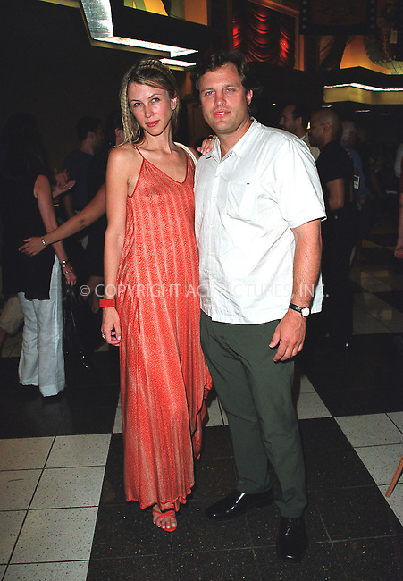 """Singer Sasha Lazard and Michael Mailer at the opening of the 3Rd Annual New York International Latino Film Festival and the premiere of """"Empire."""" New York, July 31, 2002. Please byline: Alecsey Boldeskul/NY Photo Press.   ..*PAY-PER-USE*      ....NY Photo Press:  ..phone (646) 267-6913;   ..e-mail: info@nyphotopress.com"""