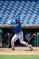 Toronto Blue Jays Gabriel Moreno (11) at bat during a Florida Instructional League game against the Philadelphia Phillies on September 24, 2018 at Spectrum Field in Clearwater, Florida.  (Mike Janes/Four Seam Images)